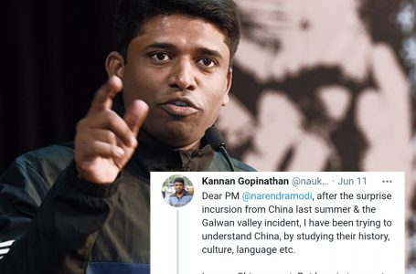 What does Kannan Gopinathan have to say about Chinese incursion in India?